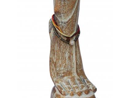 Kotníkový korálkový náramek s palmou hnědý
