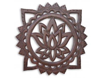 boho styl dekorace lotosový květ