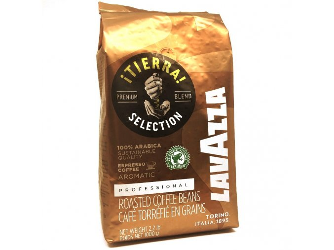 86 lavazza tierra fair trade zrnkova kava 1 kg