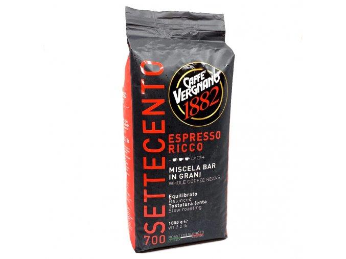 336 vergnano espresso ricco 700 zrnkova kava 1 kg