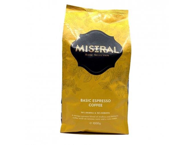 Mistral Selection Zrnková káva Basic Espresso 1 kg