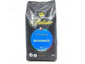Gran Maestro Italiano DEK  zrnková káva 1 kg
