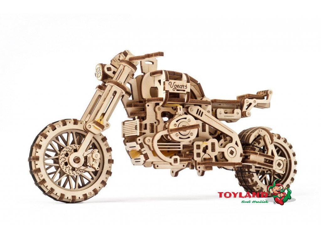 Ugears Motorcycle Scrambler UGR 10 with sidecar01 max 1100