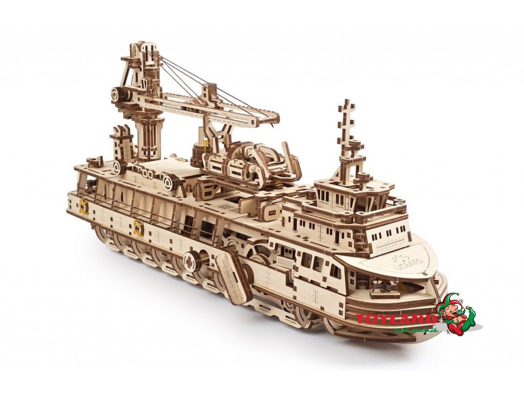 Ugears Research Vessel model kit 02 max 1100