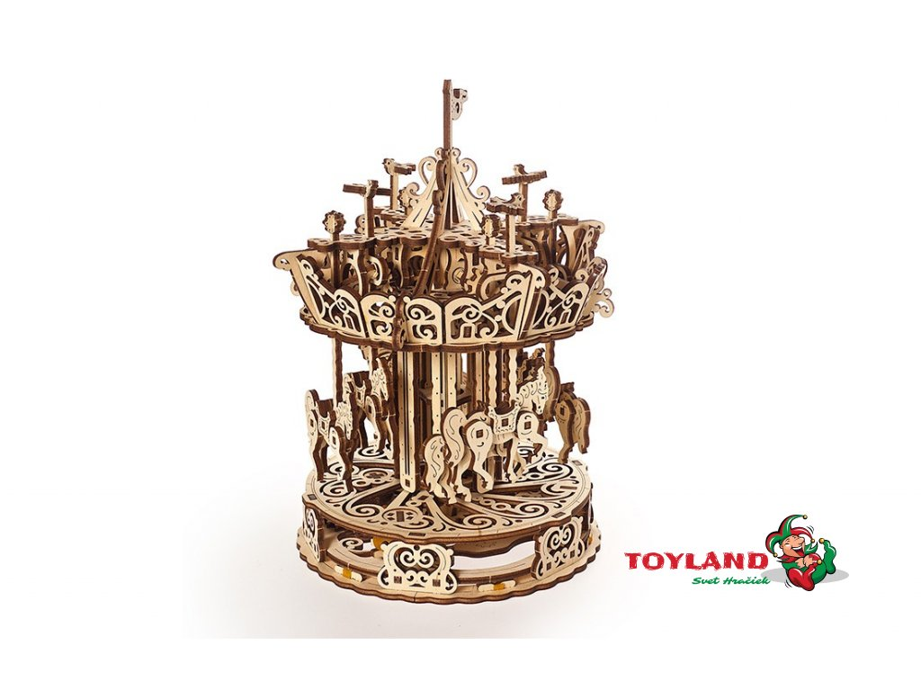 Ugears Carousel Mechanical model 1 max 1100
