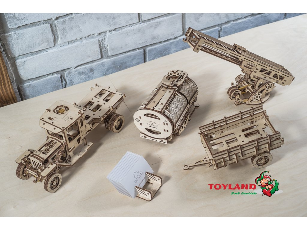 Ugears Truck Tanker Fire Chassis 01