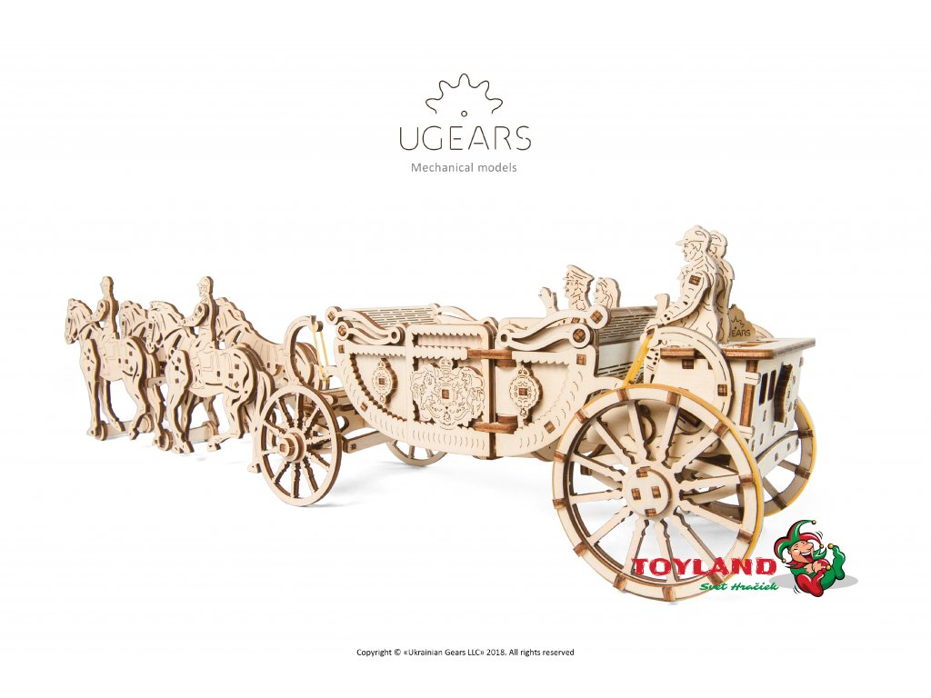 2 Ugears Royal Carriage Model DSC8380