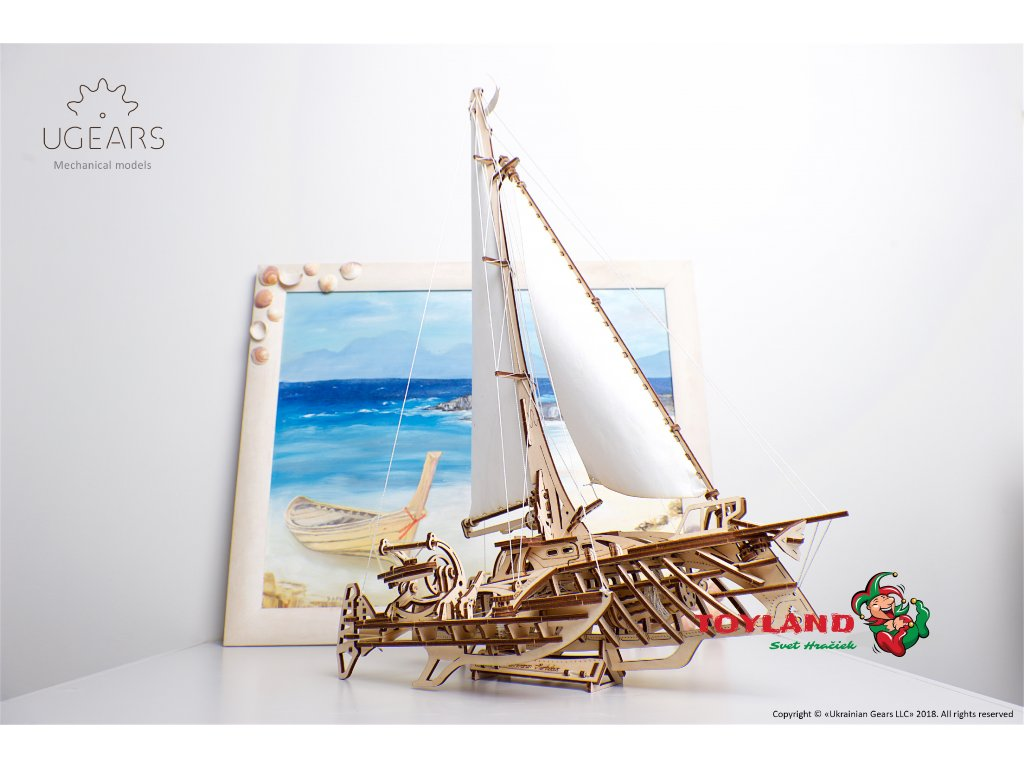 Ugears Trimaran Merihobus Model Kit 15