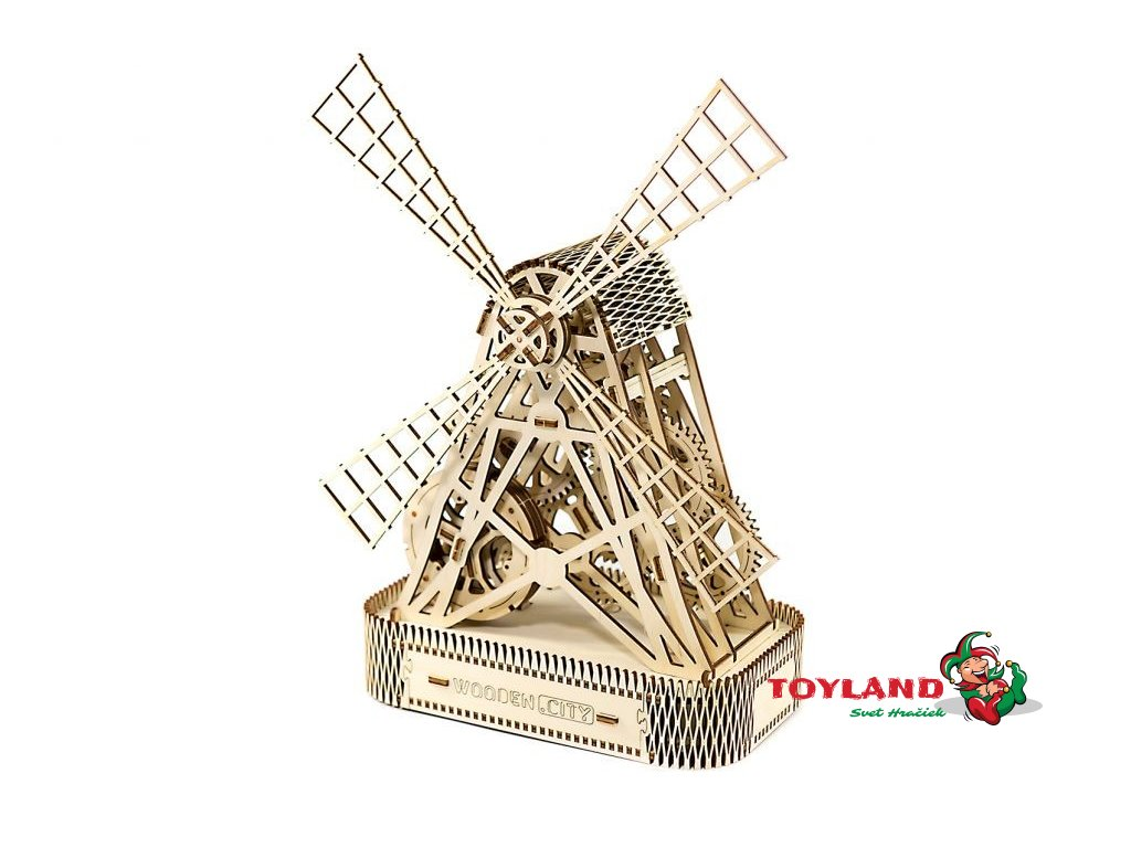 wooden city 3d mechanicke puzzle mlyn
