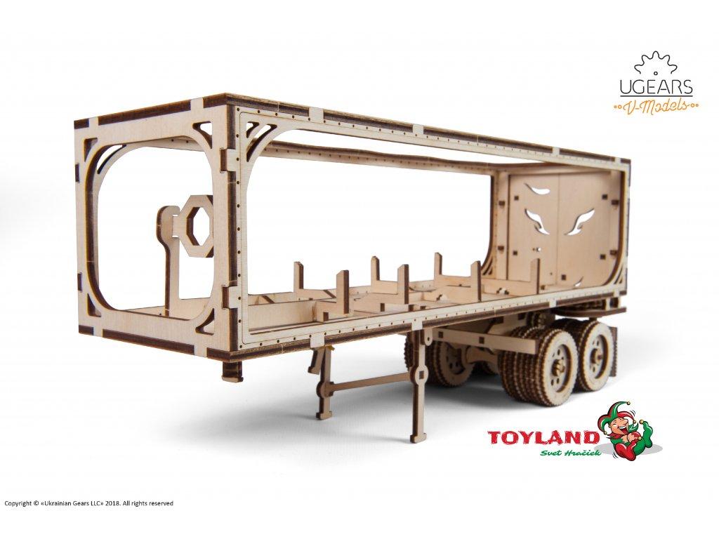 Ugears Heavy Boy Truck VM 03 Trailer model DSC8431