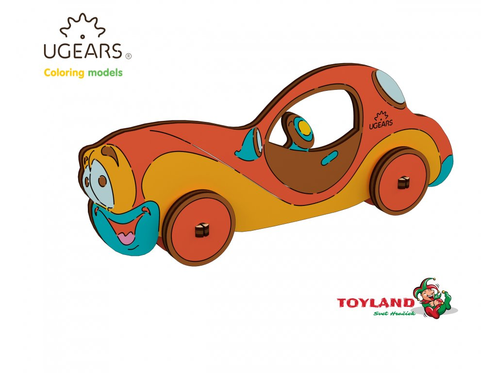 Ugears Coloring Model Car