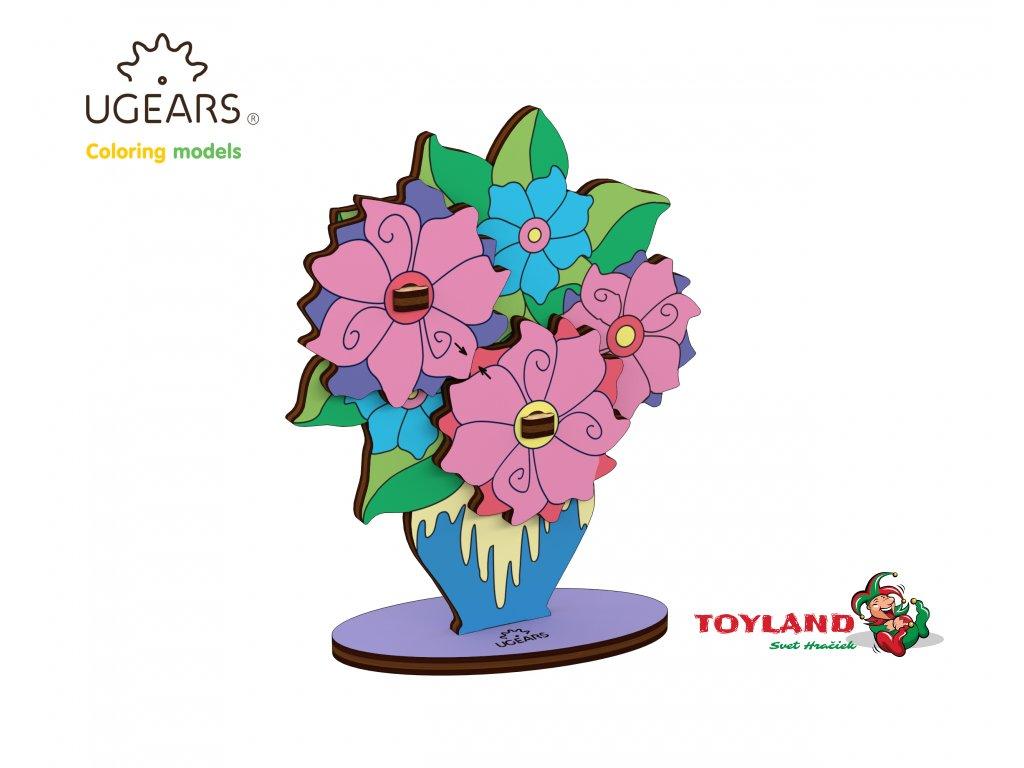 Ugears Coloring Model Bouquet