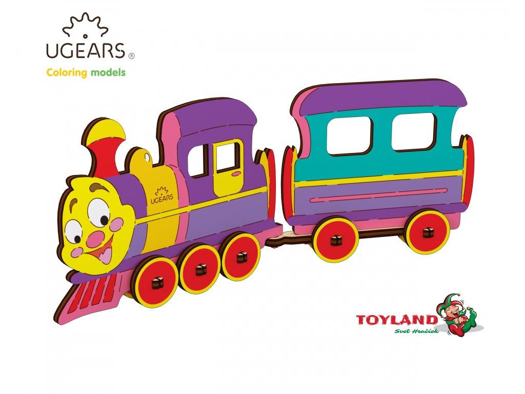 Ugears Coloring Model Locomotive