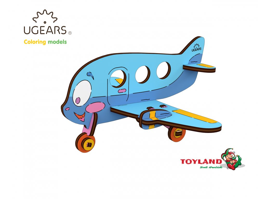 Ugears Coloring Model Airplane