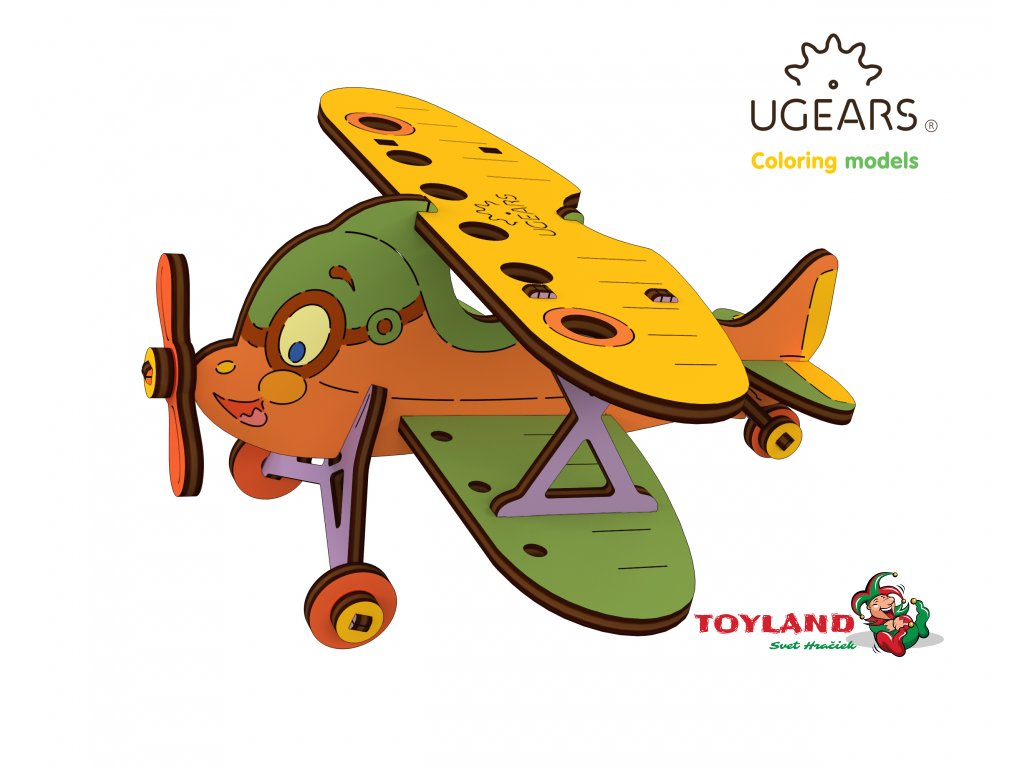 Ugears Coloring Model Biplane