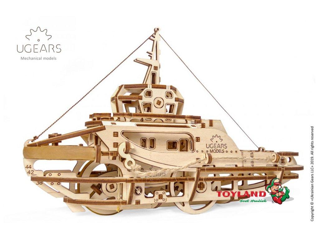 Ugears Tugboat Mechanical Model 7 max 1000