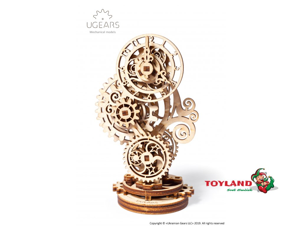 Ugears Steampunk Clock Mechanical Model DSC4573 Title
