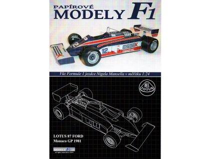 LOTUS 87 FORD - Monaco GP 1981