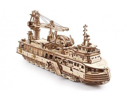 Ugears Research Vessel model kit 02 max 1100