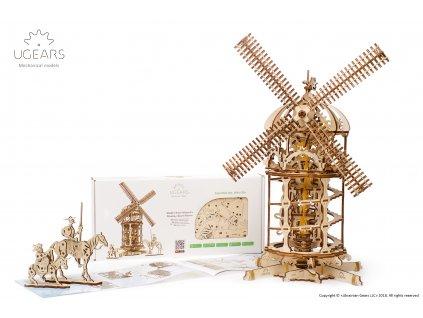 Ugears Tower Windmill Model kit 5