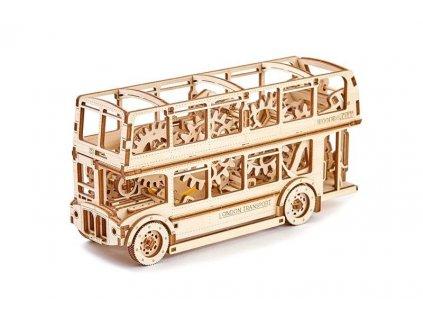 wooden city 3d mechanicke puzzle londynsky bus double decker4