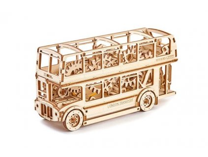 wooden city 3d mechanicke puzzle londynsky bus double decker4