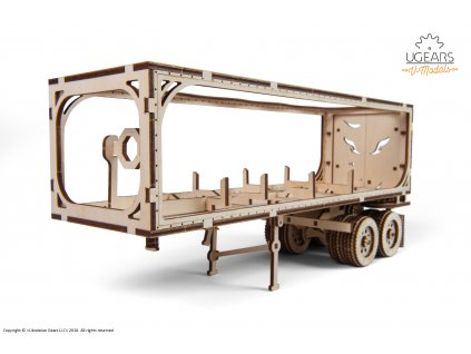 Ugears Heavy Boy Truck VM 03 Trailer model DSC8431