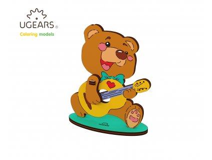 Ugears Coloring Model Teddy Bear