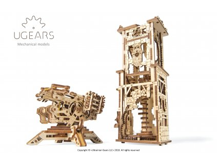 1 Ugears Archballista Tower Model
