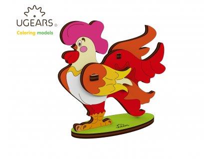 Ugears Coloring Model Cockerel