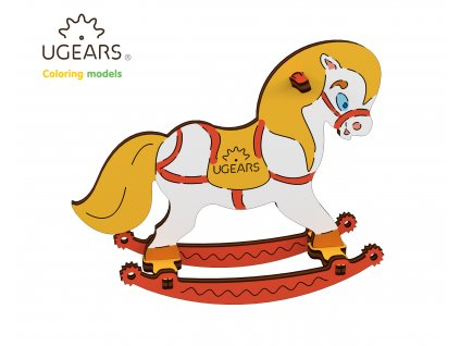 Ugears Coloring Model Horse Swing