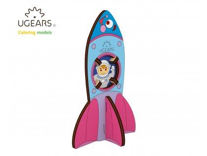 Ugears Coloring Model Rocket