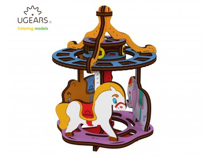 Ugears Coloring Model Merry go round