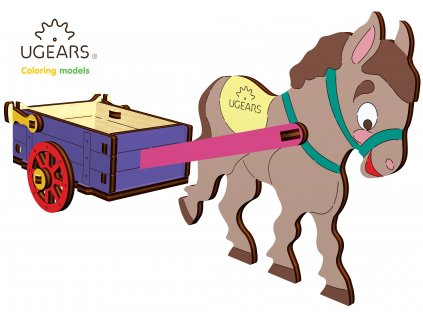 Ugears Coloring Model Donkey