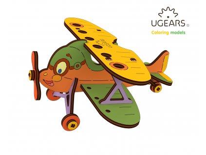 Ugears Coloring Model Biplane