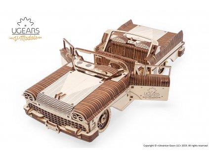 13 Ugears Dream Cabriolet VM 05 mechanical model kit max 1000