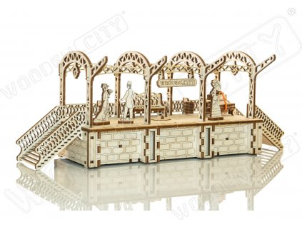 RailwayStation woodencity 02 wooden model kit