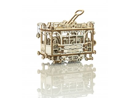 city tram woodencity 2 wooden model kit
