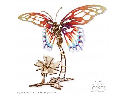 Ugears Butterfly Mechanical Model DSC8408