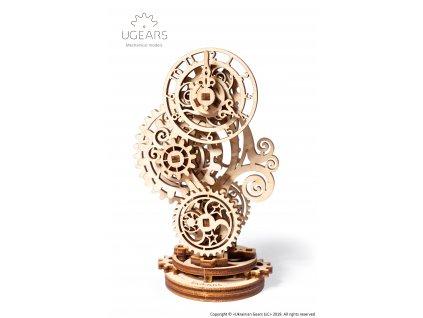 Ugears Steampunk Clock Mechanical Model DSC4573 Title