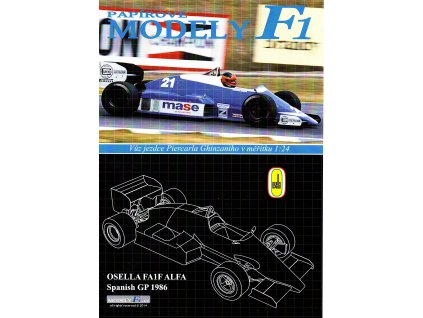 OSELLA FA1F ALFA - Spanish GP 1986