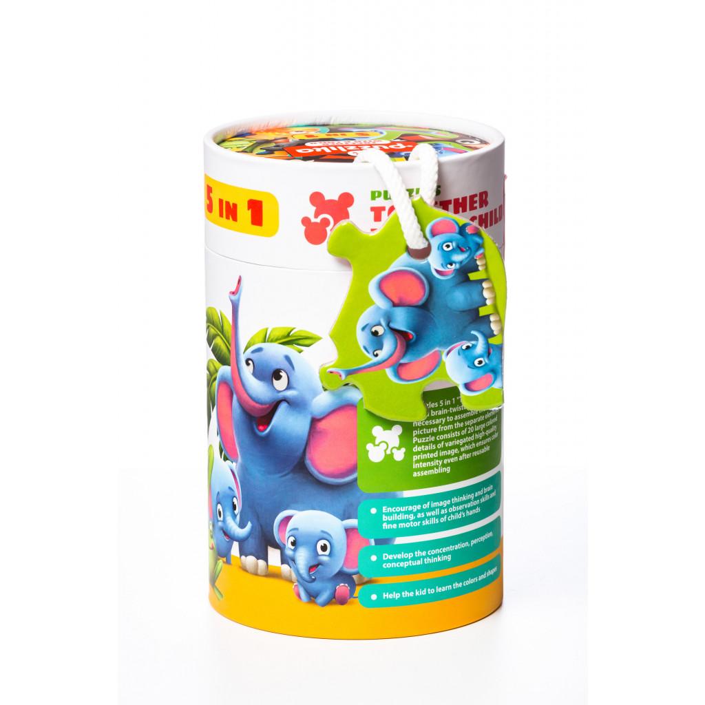 CUBIKA Puzzle Zvířata s mláďaty