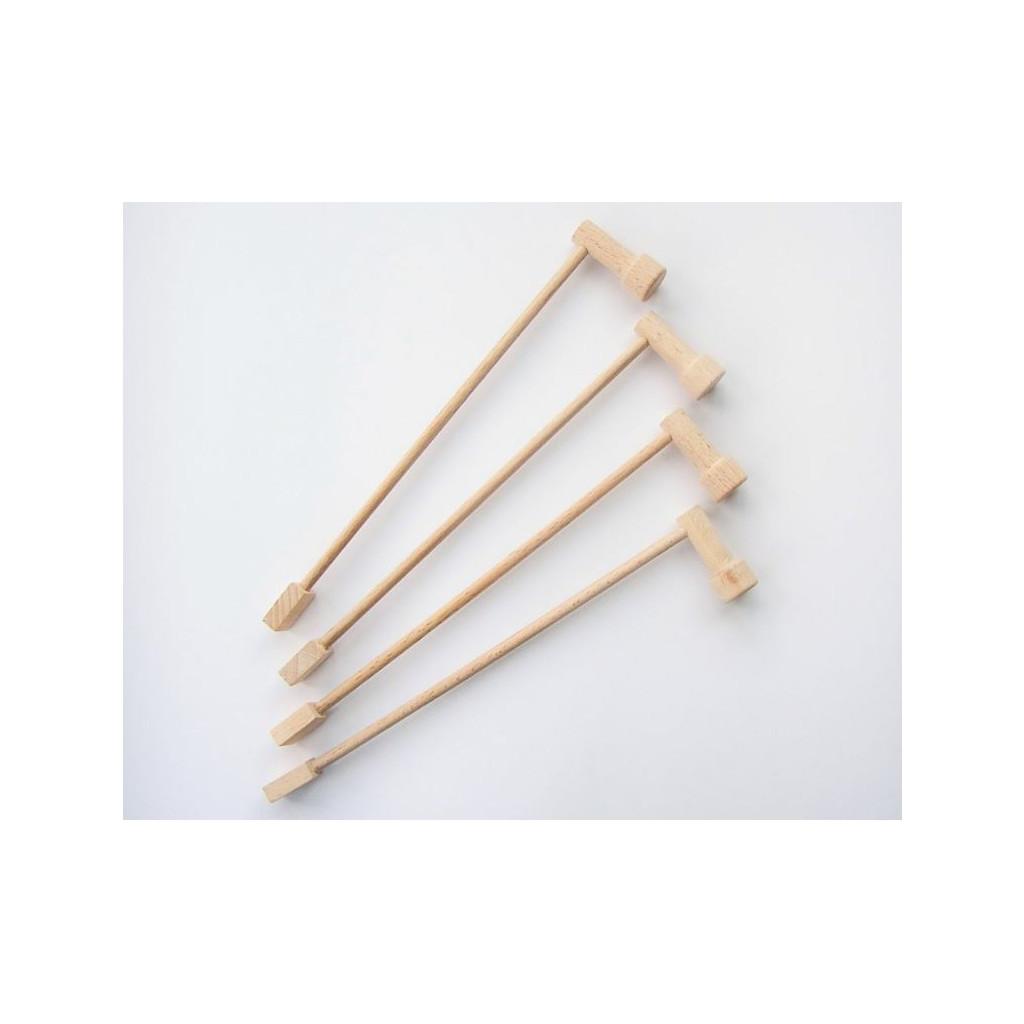 MARIONETINO Tyčka dřevěná 4 ks