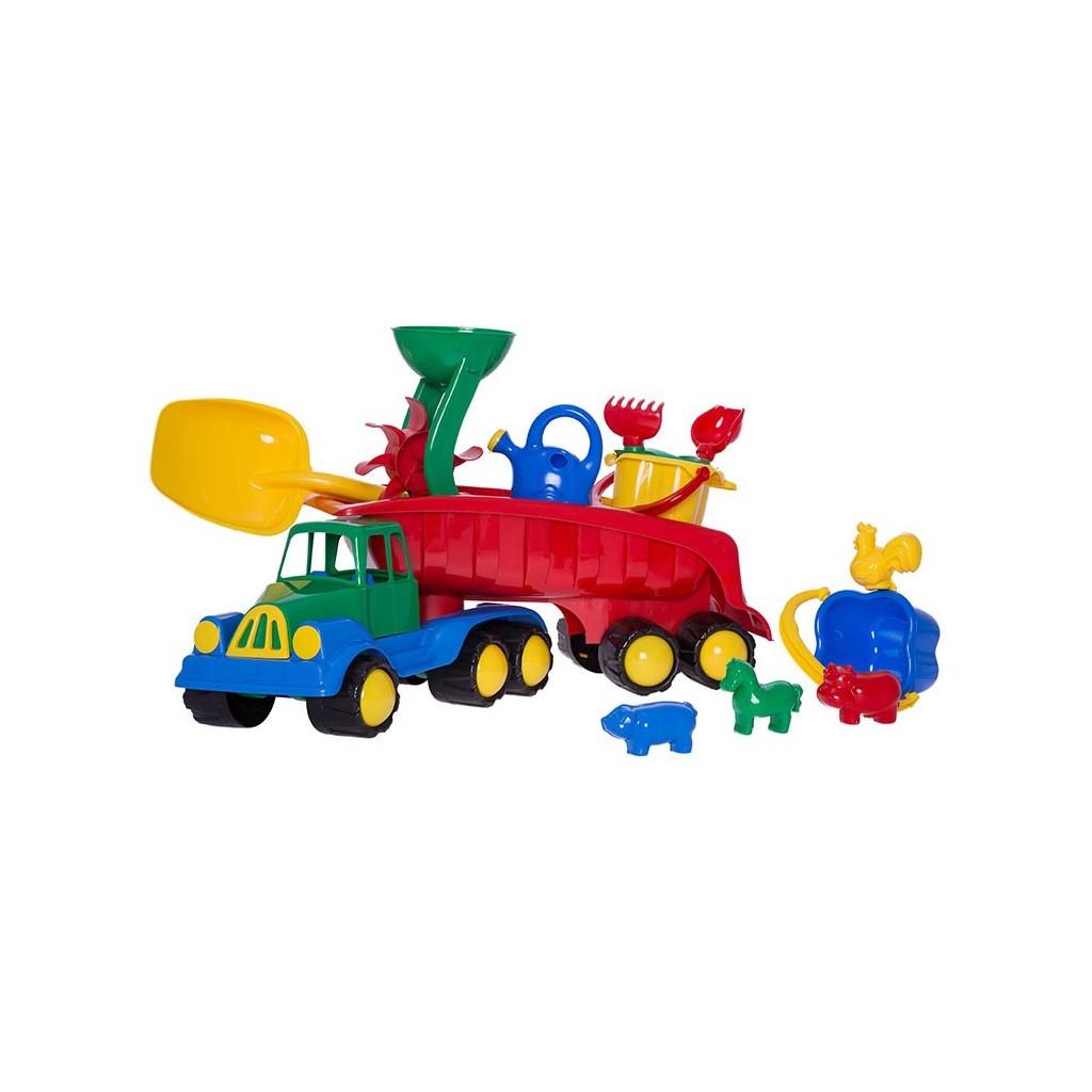 HE0994 HEMAR Nákladní auto Tahač s velkou lopatou, vodním mlýnkem a sadou na písek