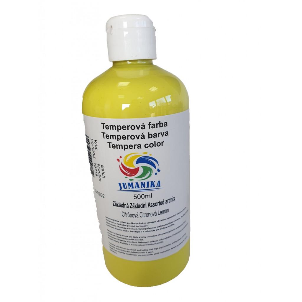 BA20 500Z JUMANIKA Tempera zakladni citronova 500 ml