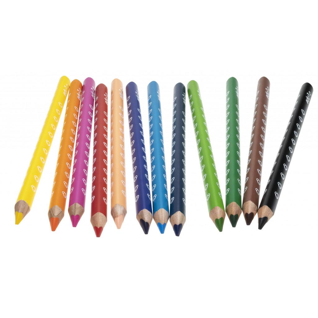 EDU1231036 jumbo trojhranne pastelky P36 12 barev