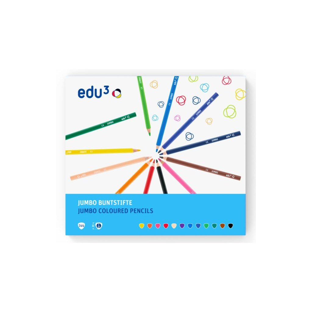 EDU1240144 jumbo trojhranne pastelky K144