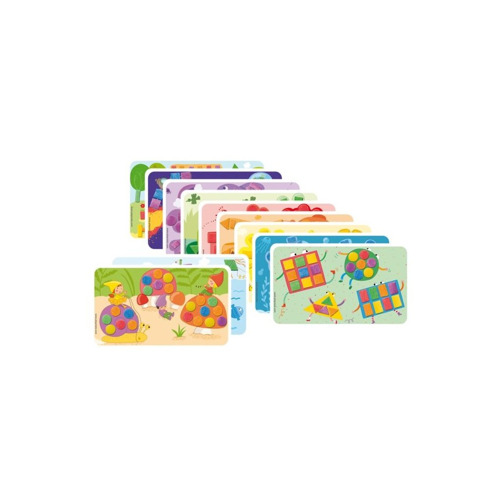 PM160086 PLAYMAIS Card Set Fun to learn Barvy a tvary
