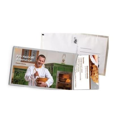 Pohled s dárkem - Recept Petra Havlíčka na ovesné sušenky