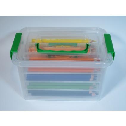 EDU3 Jumbo Aqua trojhranné pastelky P96, tuha 5 mm, 96 ks/12 barev ve školním boxu